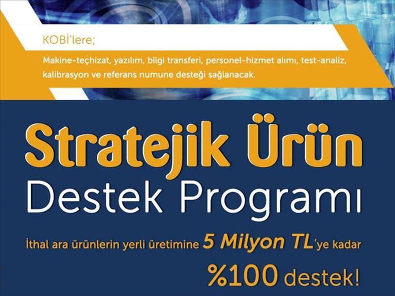 KOSGEB'in Stratejik Ürün Destek Programı Yeniden Düzenlendi
