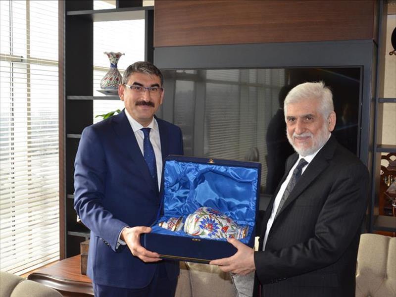 Afganistan Türkiye Büyükelçisi Sayedjan, KOSGEB Başkanı Uzkurt'u Ziyaret Etti