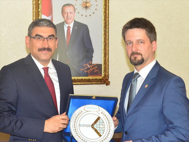 KOSGEB Başkanı Prof. Uzkurt Macaristan Büyükelçisi Matis'i Kabul Etti