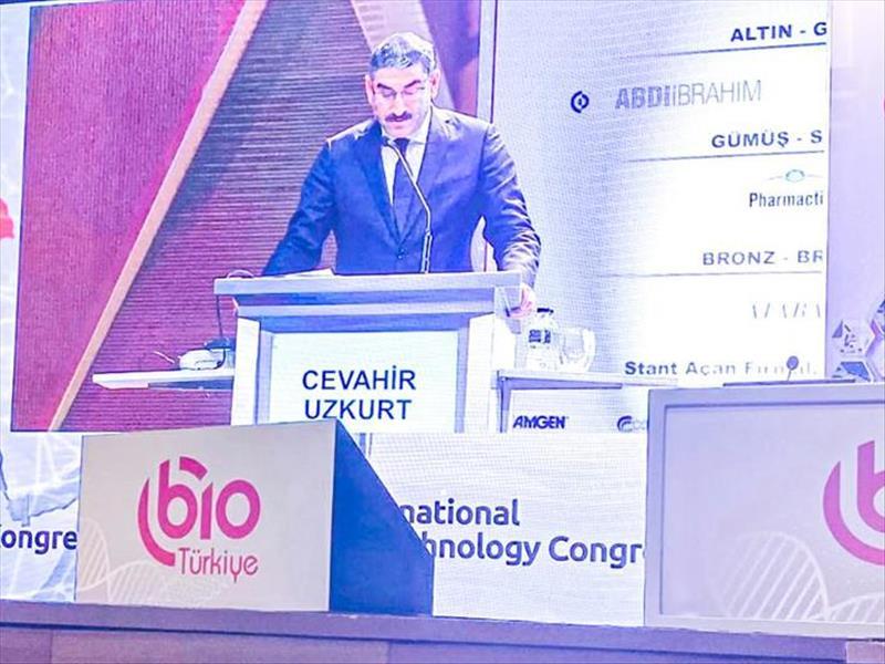 KOSGEB Başkanı Prof. Uzkurt Uluslararası Biyoteknoloji Kongresinde Konuştu