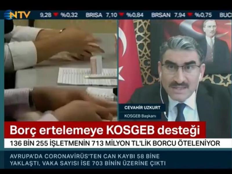 """KOSGEB Başkanı Prof. Uzkurt: """"KOBİ'lere Nakit Akış Yönetiminde Destek Olmak İstiyoruz"""""""